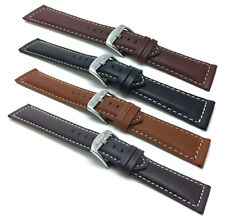 18-30mm Leather Watch Band Strap, Many Colors, Fits Citizen, Fossil, DW & More