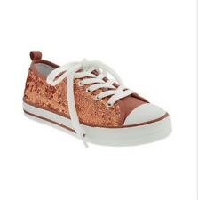 Old Navy Girls Sequined Gold Rush Sneakers Shoes Size 2Youth