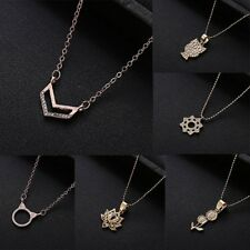 Flower Owl Fashion Women Necklace Pendant Jewelry Gold Plated Wedding Party Gift