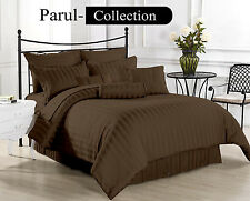 Sale Sale 600-800-1000-1200 TC Brown Stripe 100% Egyptian Cotton US Bedding size