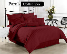 Sale Sale 600-800-1000-1200 TC Wine Stripe 100% Egyptian Cotton US Bedding size