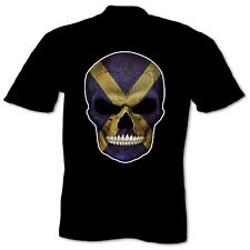 Evil Scottish Day Of The Dead Skull Candy Sugar Skull Scotland Mens T Shirt
