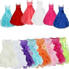Kids Flower Girls Dress Princess Wedding Party Formal Bridesmaid Dress Pageant