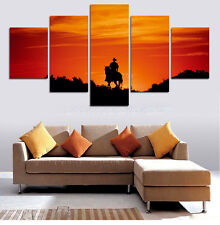 Human Riding Stronger Horse Modern Abstract Painting Canvas Wall Art Home Decor