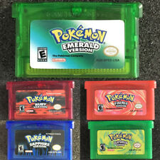 1/5PCS Nintendo Game Cards Emerald Sapphire Ruby Red Green For GBM/GBA/SP/NDS