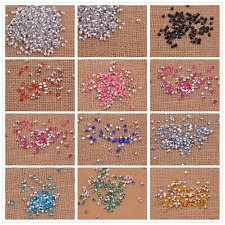 Acrylic Bicone Point Rhinestone Faceted Gems pointed back Charms Jewelry 2MM-4MM