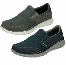 MENS SKECHERS EQUALIZER PERSISTENT SLIP ON MEMORY FOAM TRAINERS SHOES 51361