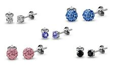 18ct White Gold Plated Studs, Earrings Featuring Crystals from Swarovski®