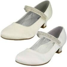 Girls Spot On Mid Heel Diamante Strap Shoes 'Style 066'