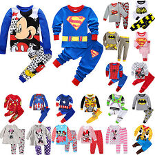 Children Hero Boys Girls Sleepwear Cartoon Kid Tops Pants Nightwear Outfits Pj's