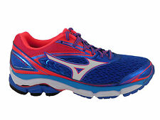 NEW WOMENS MIZUNO WAVE INSPIRE 13 RUNNING SHOES STRONG BLUE / DIVA PINK / WHITE