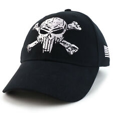 Pirate Skull Crossbone Barbwire Embroidered Structured Army Baseball Cap