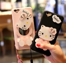 Cute 3D Hello kitty Mirror case cover Defender for Apple iPhone 6 6S 7 & Plus