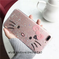 Cartoon Hello Kitty Bears Corgi Bling Glitter Case Cover For iPhone 7 7Plus 6 6S