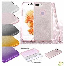 Apple iPhone 6 6s Plus Bling Hybrid Glitter Rubber Silicone TPU Hard Case Cover