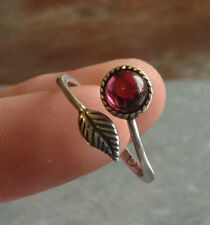 925 Sterling Silver Plated Feather Ring Gemstone Adjustable pink blue green