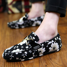 New Mens sneakers Driving Leather Casual Loafers Slip Ons Flat Fashion Shoes