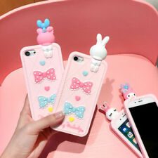 3D Doll My Melody Rabbit Lovely Silicone Soft Case Cover For iPhone 7 7 Plus 6S