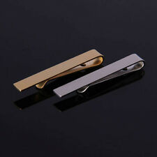 TIE CLIP Mens Boys Stainless Steel Clasp Bar Wedding Neck Silver Black Gold
