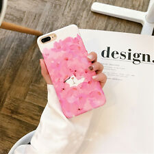 Cute Lovely Cartoon Cat Flower Pink Hard Phone Case Cover For iPhone 7/7 plus/6