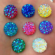 DIY 40Pcs 12mm Round AB Resin Flatback Rhinestones for Wedding Crafts Delightful