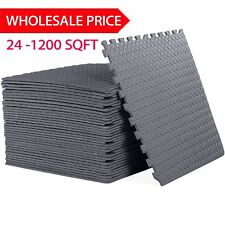 LOT24-1200 SQ FT INTERLOCKING EVA FOAM FLOOR PUZZLE WORK GYM MATS PUZZLE MAT