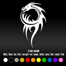 "5"" Tribal tattoo Dragon Diecut Car Bumper Window Vinyl Decal sticker D001"