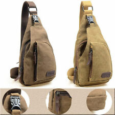 Men Military Canvas Satchel Messenger Bag Shoulder Bag Travel Hiking Backpack