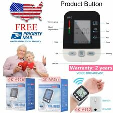 LCD Arm Electronic Blood Pressure Monitor Sphygmomanometer Heart Rate Meter UTY