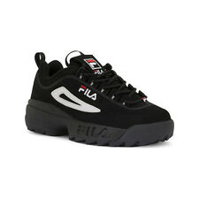 Fila Disruptor Black Red Suede Mens Shoes New In Box