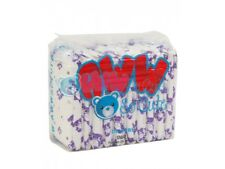 Purple Teddy Bear Printed Absorbent Disposable White Adult Diapers