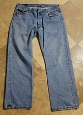 Levis 501 36x30 Button-Fly Light Wash Red Tab Jeans Pants Mens