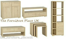 Cambourne Oak Veneer Lamp Coffee Nest Of Tables TV Unit Display Unit Sideboard