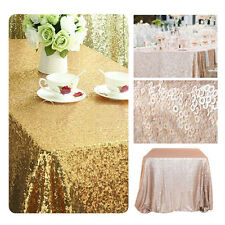 "40""x59"" Rectangular Sequin Wedding Tablecloth Table Cover Dining Banquet Party"
