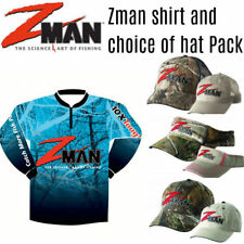 Zman Set- Z man Tournament Fishing Shirt + Choice of Z-man hat / cap / visor