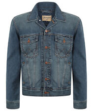 MENS WRANGLER WESTERN STYLE DENIM JACKET GREAT QUALITY - STONEWASH