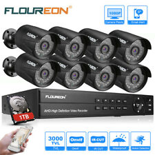 4CH/8CH 1080N AHD 1500TVL Cameras Security DVR Home CCTV Surveillance System Kit