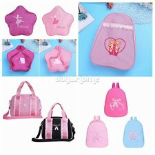Kid Girl Ballet Dance Bag Backpack Toe Shoes Shoulder School Travel Bag Hand Bag