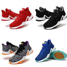 Fashion Lace Up Flyknit Sport Basketball Running Mens Casual Athletic Shoes New