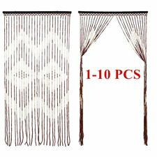 1-10 PCS Provence Wooden Beaded Door Curtain Hanging Wooden Curtain 90x180cm SY