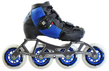 ATOM SKATES - LUIGINO KID'S BLUE CHALLENGE - 4 WHEEL INLINE SPEED SKATE PACKAGE