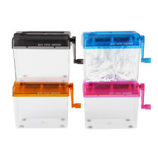 Portable A6 Compact Manual Hand Operated Strip Document Paper Shredder Durable