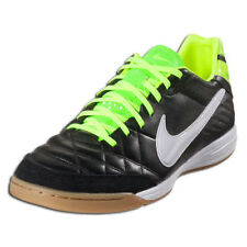 NIKE TIEMPO MYSTIC IC. Black/Volt/White Indoor Soccer Shoes.