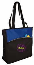 Personalized Volleyball 2 Two-Tone Colorblock Tote Bag CSB1510VB2-ROBK
