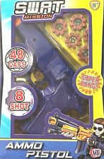 Shot Cap Gun Toy 8 Caps Pistol Sure Ring Kids 200 Outdoor Plastic Rings Revolver