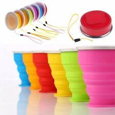 Outdoor Travel Camping Silicone Retractable Telescopic Collapsible Folding Cup