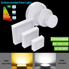 9W15W21W Dimmable LED Panel Ceiling Down Light Surface Mount Lamp Fixtures Bulb