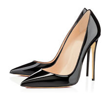 Women's Patent Slip on Stiletto High Heels Pointed Toe Dress Party Pumps Shoes
