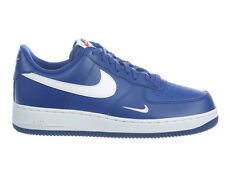 NEW MENS NIKE AIR FORCE 1 LOW BASKETBALL SHOES TRAINERS DEEP ROYAL BLUE / WHITE