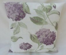 "Laura Ashley Designer Cushion Cover ""HYDRANGEA"" Grape Fabric Various Sizes"